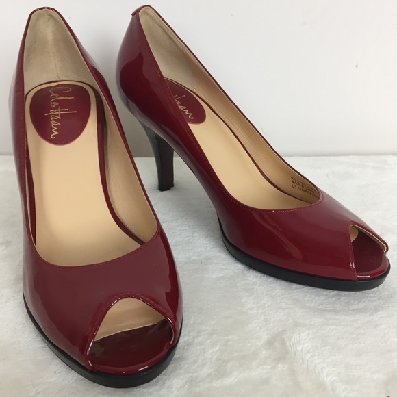 Cole Haan Nike Air Peep Toe Red Patent